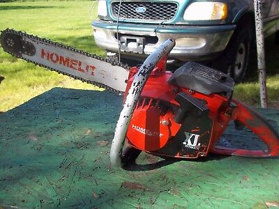 homelite xl automatic  chainsaws works good see video