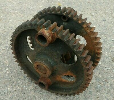 Vintage Chicago Aermotor Windmill A 705 Main Gears with A 752 Bearing and Shaft