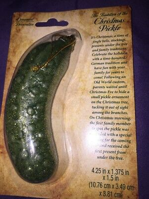 german christmas holiday tree ornament christmas pickle traditional game