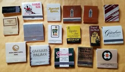 lot of 17 vintage hotel and casino matchbooks various places some used some not