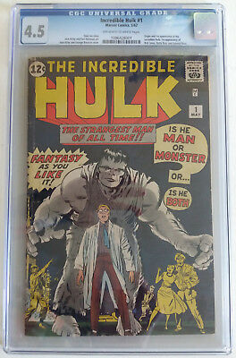 INCREDIBLE HULK  1  CGC 4.5 - 1096428001 -  1st ever appearance of the Hulk!