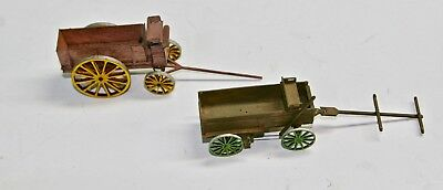 Two O/On3/On30 Laser Cut Wooden Wagons: Assembled & Painted