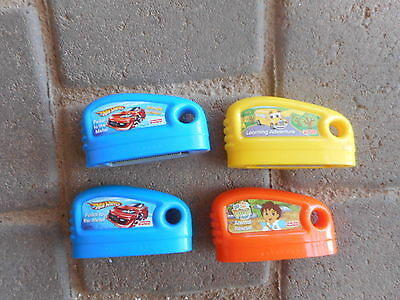 4 Fisher Price SMART CYCLE GAME Cartridges Hot Wheels Diego Rescu Learn Adventre