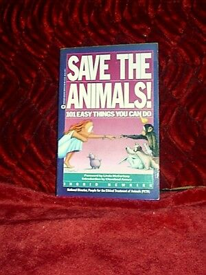 Save the Animals-Newkirk-PETA-Foreward by Linda McCartney'90-SC Book-101 Things