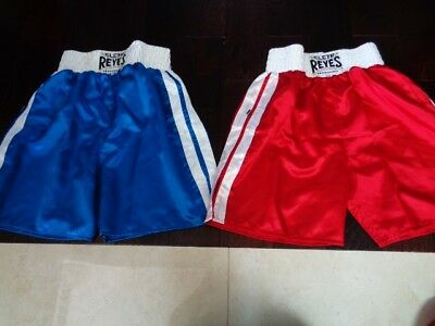 2 pairs Cleto Reyes Satin Classic Boxing Trunks - Blue and Red Nwot small