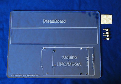 Large Size Acrylic Mounting / Base Plate for Arduino UNO and MEGA size board