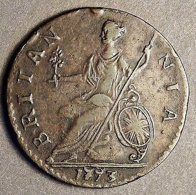 *** Authentic American Revolutionary War Coin 1773 Blundered Date (73076CVS In#