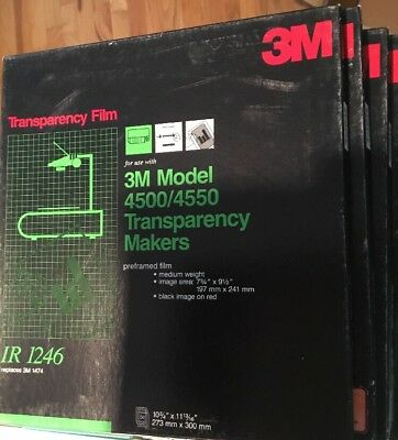 3M IR 1246 TRANSPARENCY FILM MAKERS 250 SHEETS New Black on Red