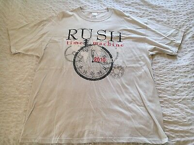 rush t shirt XL Time Machine Tour 2010 New