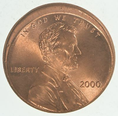 Mint Error - Ch BU 2000 Off Center Lincoln Memorial Cents *249