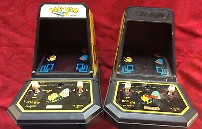 Vintage Coleco Tabletop Pac Man Arcade Games Lot Of 2 1981