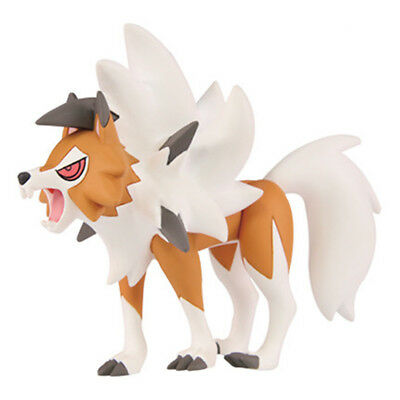 "TOKARA TOMY Pokemon Sun&Mooon 2.5"" Lycanroc Dusk Form Kids Action Figure Toys"