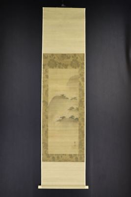 JAPANESE HANGING SCROLL ART Painting Scenery Asian antique  #E8014