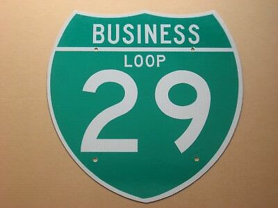 Fargo - Kansas City I-29 BUSINESS interstate 29 highway route road sign REAL