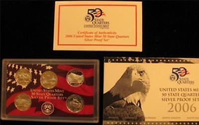 2006-S  State  Quarters  SILVER Proof Set 5 piece set NIB with COA (bc3)