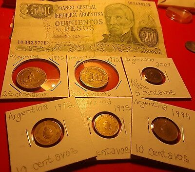 Argentina coin and banknote set  lot