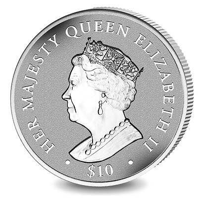 2017 British Virgin Islands Queens Sapphire Jubilee Proof Silver Coin 1952 made!