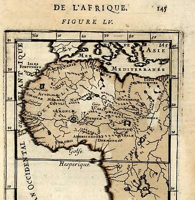 Africa Ethiopia Libya Egypt Morocco West Africa Sahara 1685 Mallet old map