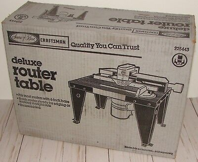 NIB NOS Craftsman Deluxe Router Table 25443