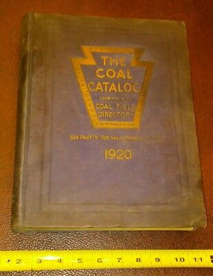 Vintage Antique 1920 Coal Catalog with Coal Field Directory Keystone Publishing