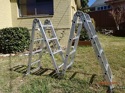 4.75M Ladder Aluminium Folding Extension - Sydney