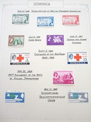 Dominica Collection of 10 stamps MLH Low Start L@@K