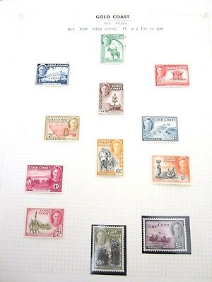 Gold Coast Collection of 12 stamps 1/2d to 5/- 1948 MLH Low Start L@@K