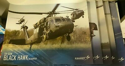 Lot of 5 2017 Sikorsky Aircraft Corporation helicopter posters