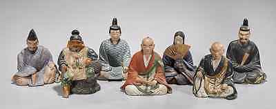 Japanese Pottery Set of Court Figures