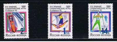 Olympic Albertville RUSSIA MNH 1992 Sc 6056-6058 Mi 220-222 Complete Set of 3