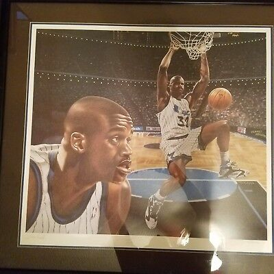 Shaquille O'neal Signed Lithograph By Tom Robb 582/1332