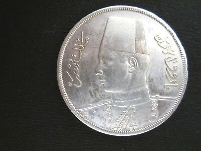 Egypt 1939 20 piastres High grade silver coin Low Start L@@K