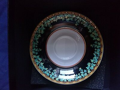 Versace rosenthal studio line gold ivy, small demi tasse saucer boxed, NO CUP,