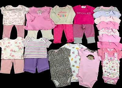 Infant Baby Girl Clothes Size 3-6 Months Shirts Pants Outfits Mixed Lot Set