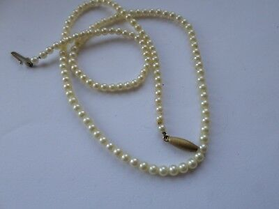 Petite natural pearl necklace with 9 carat gold clasp - 16.5 or 42 cm