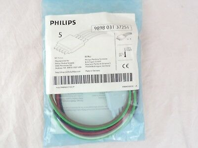 Philips 989803137251 5 Lead Clip Viridia Telemetry Leadset for Intellivue M2601B