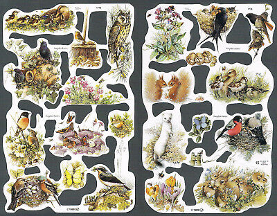 Mamelok Scraps - Marjolein Bastin - Wildlife and Nature - 2 x sheets: 1775 1776