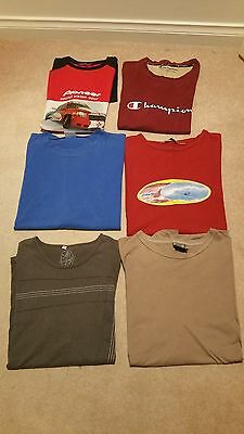 6 X Men's Size L - Size Xxl Short Sleeve Tops