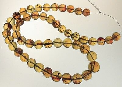 ++ Hand Cut Mexican Amber sphere Beads 115g