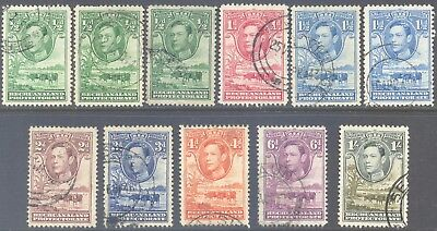 BECHUANALAND PROTECTORATE 1938/43 KG6 Baobob Tree & Cattle Set to 1/- (11) Used