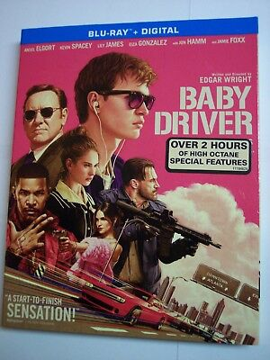 Baby Driver w/Slipcover (Blu-Ray, Digital) Kevin Spacey
