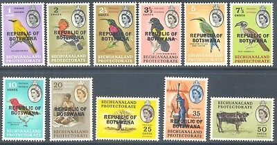 BOTSWANA 1966 Birds Values to 50c (11) Mint