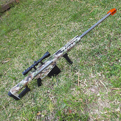 M82 Barrett Custom Multicam with Scope 1.4m Gel Ball Water Toy Gun Blaster AU