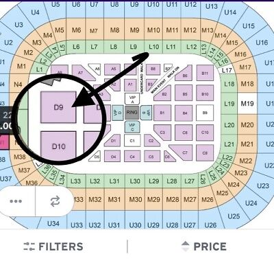 4 X Anthony Joshua Vs Carlos Takam Tickets Floor Seats Row A! Listing Ends 24Th