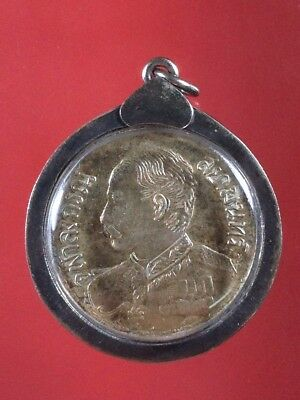 Old Thai Buddha Antique King Rama V Siam Pendant Vintage Frame