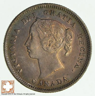 1885 Canada 5 Cents Small 5 *8559