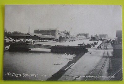 WARREN SMITH Postcard c.1910 THE DOCKS SHARPNESS GLOUCESTERSHIRE