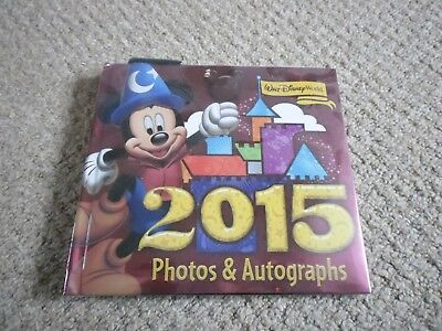 Walt Disney World USA 2015 Photos & Autograph Book & Pen New & Selaed
