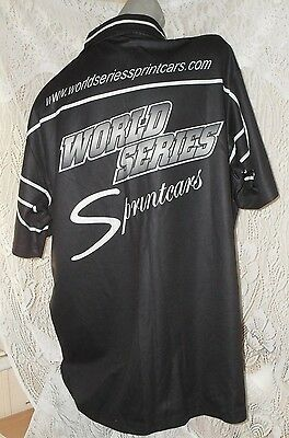 World Series Sprintcars racing motorsport black buttonup shirt Sz 2XL