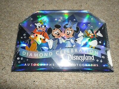Disneyland Resort USA 2015 Diamond Celebration Photos +Autograph Book New Sealed